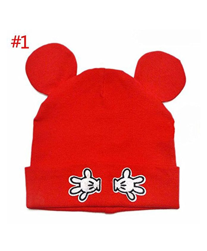 Ziory Printed Beanie Cap With Ears Red Online in India 1832cddf727