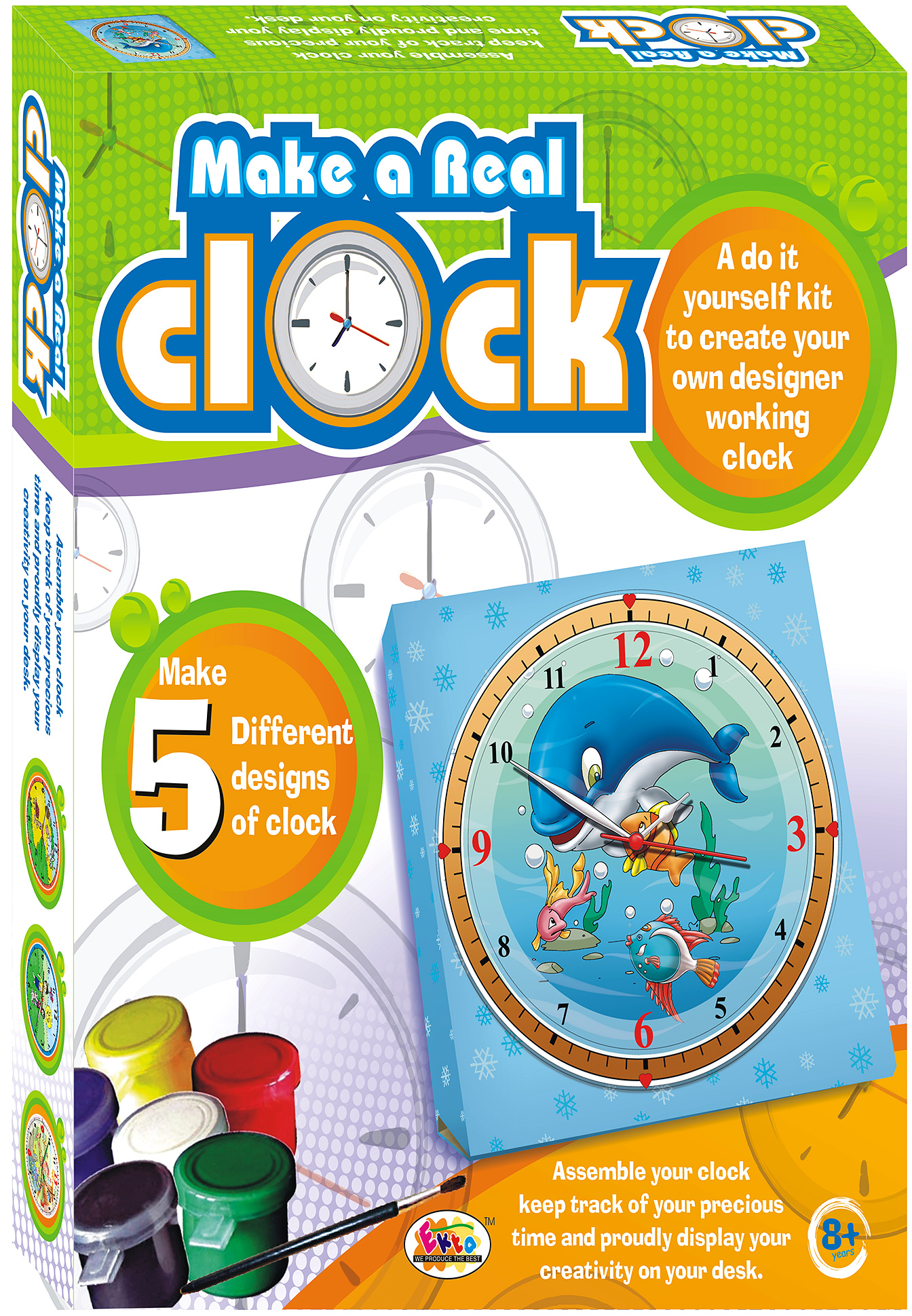 Ekta make a real clock 8 years plus online india buy art select color solutioingenieria Image collections