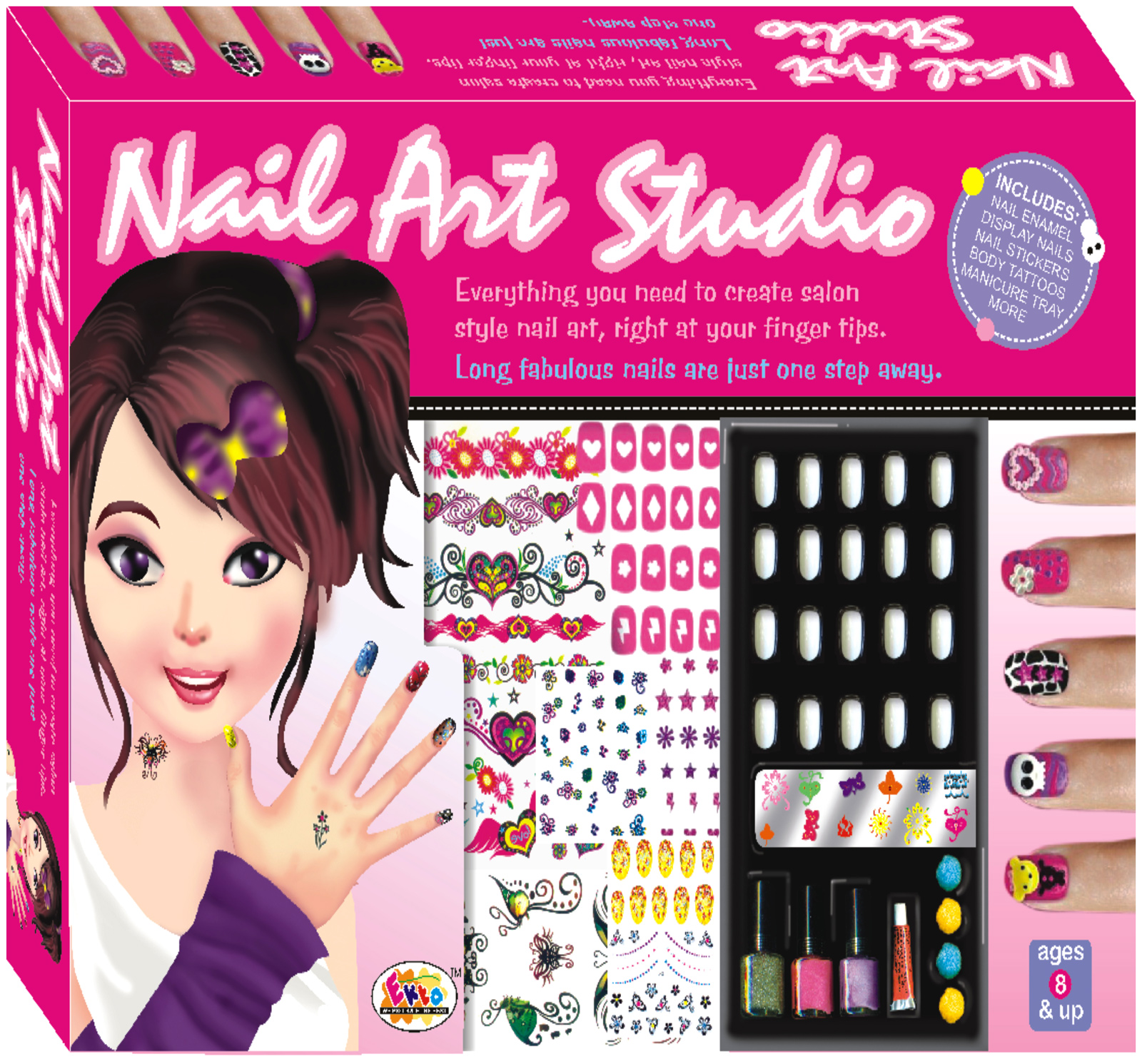 Ekta Nail Art Studio Kit 8 Years Plus