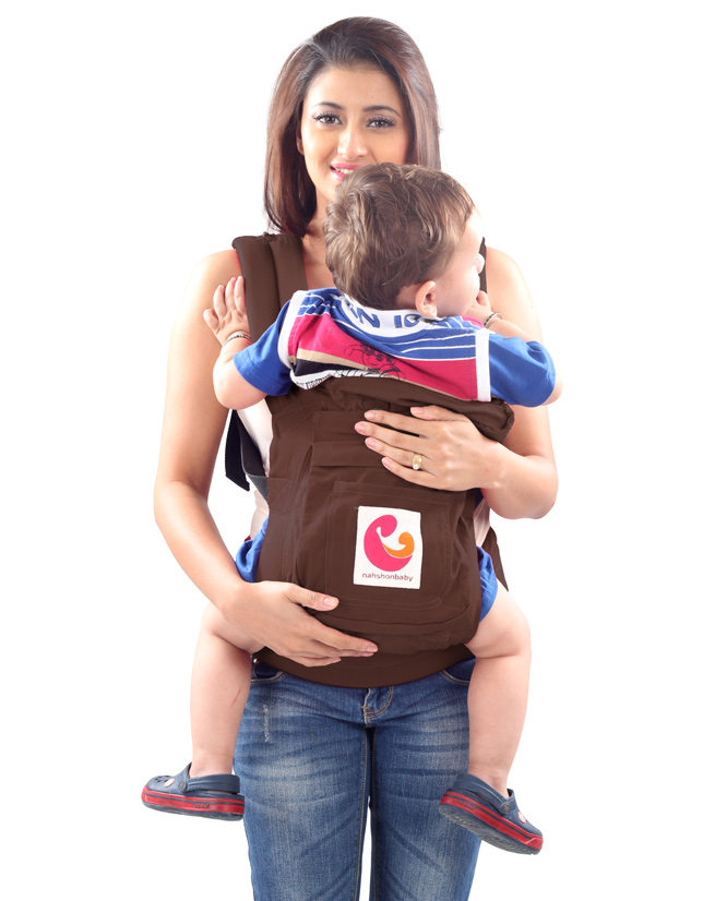 Nahshon 3 Way Baby Carrier - Otter Brown