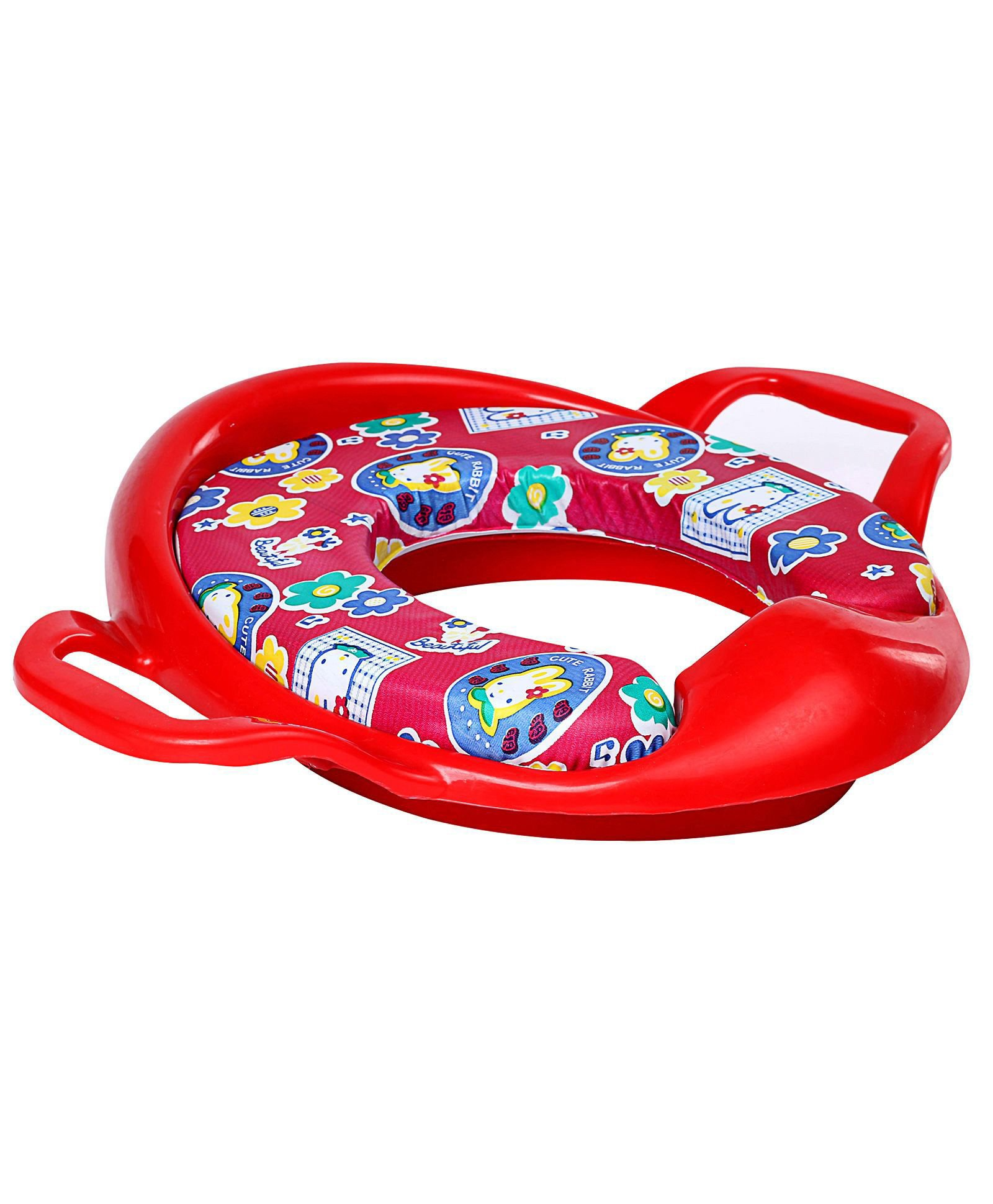 Babyhug Cushioned Potty Training Seat With Handle - Red