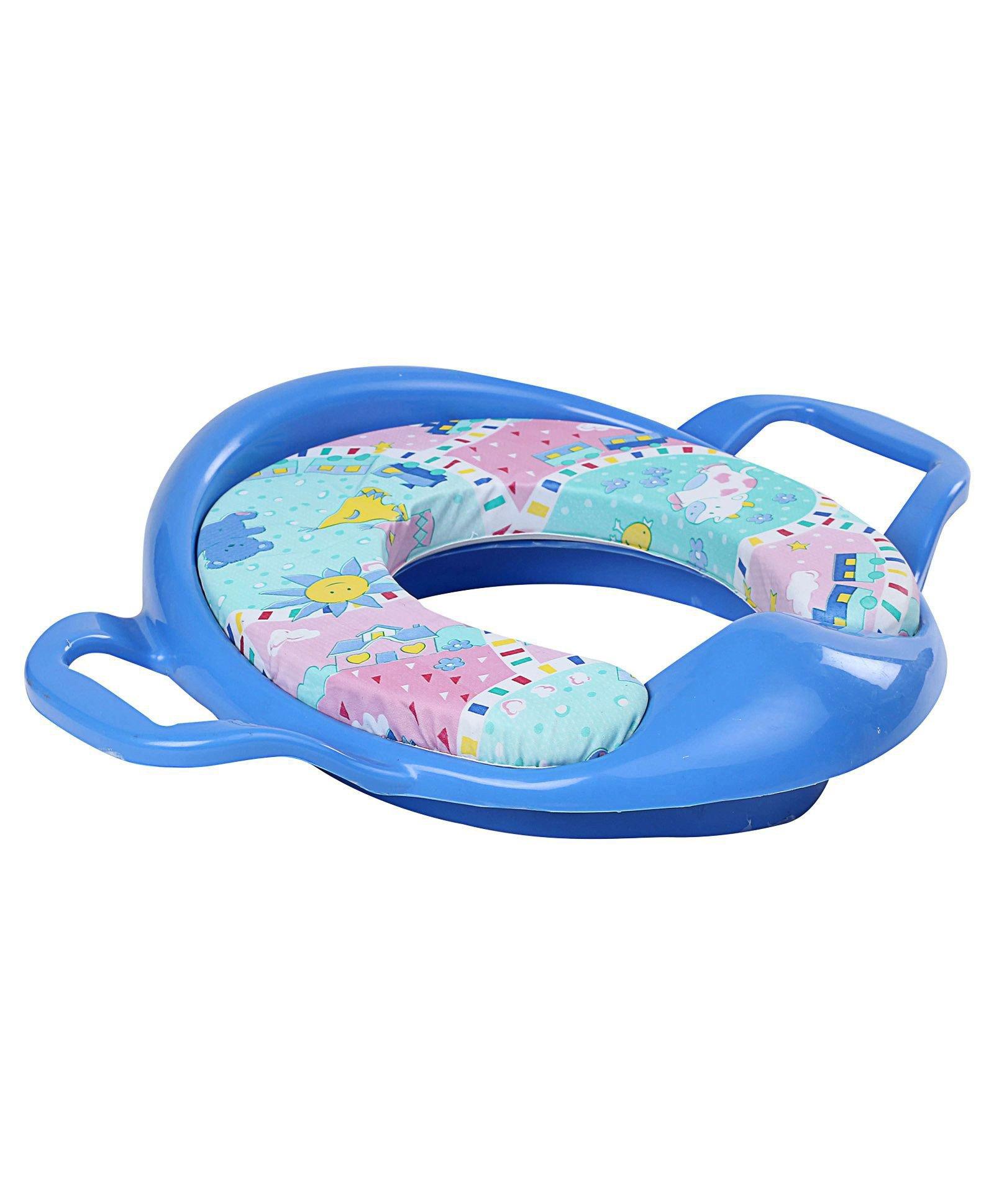 Babyhug Cushioned Potty Training Seat With Handle - Blue