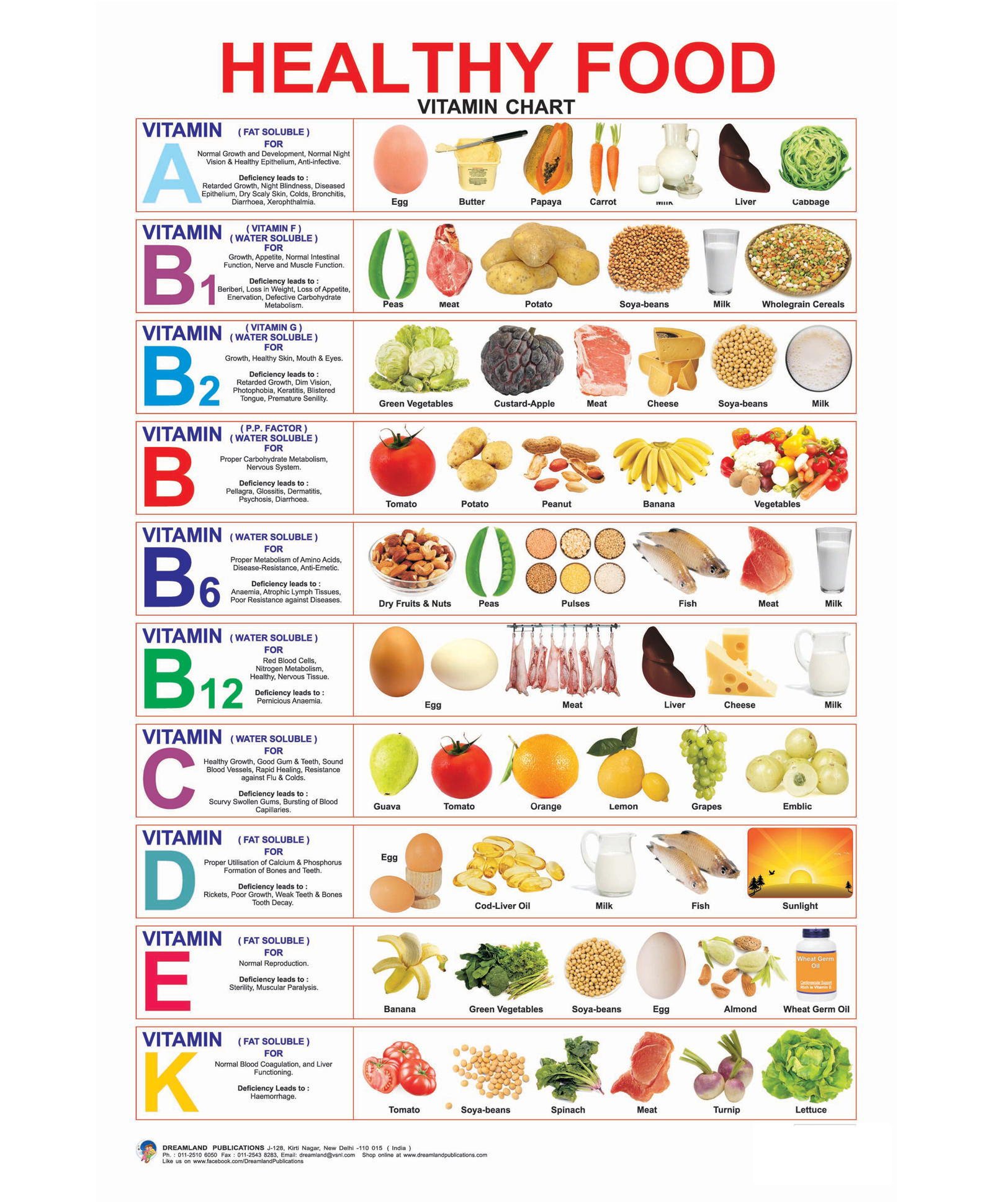 Healthy food vitamin chart english online in india buy at best