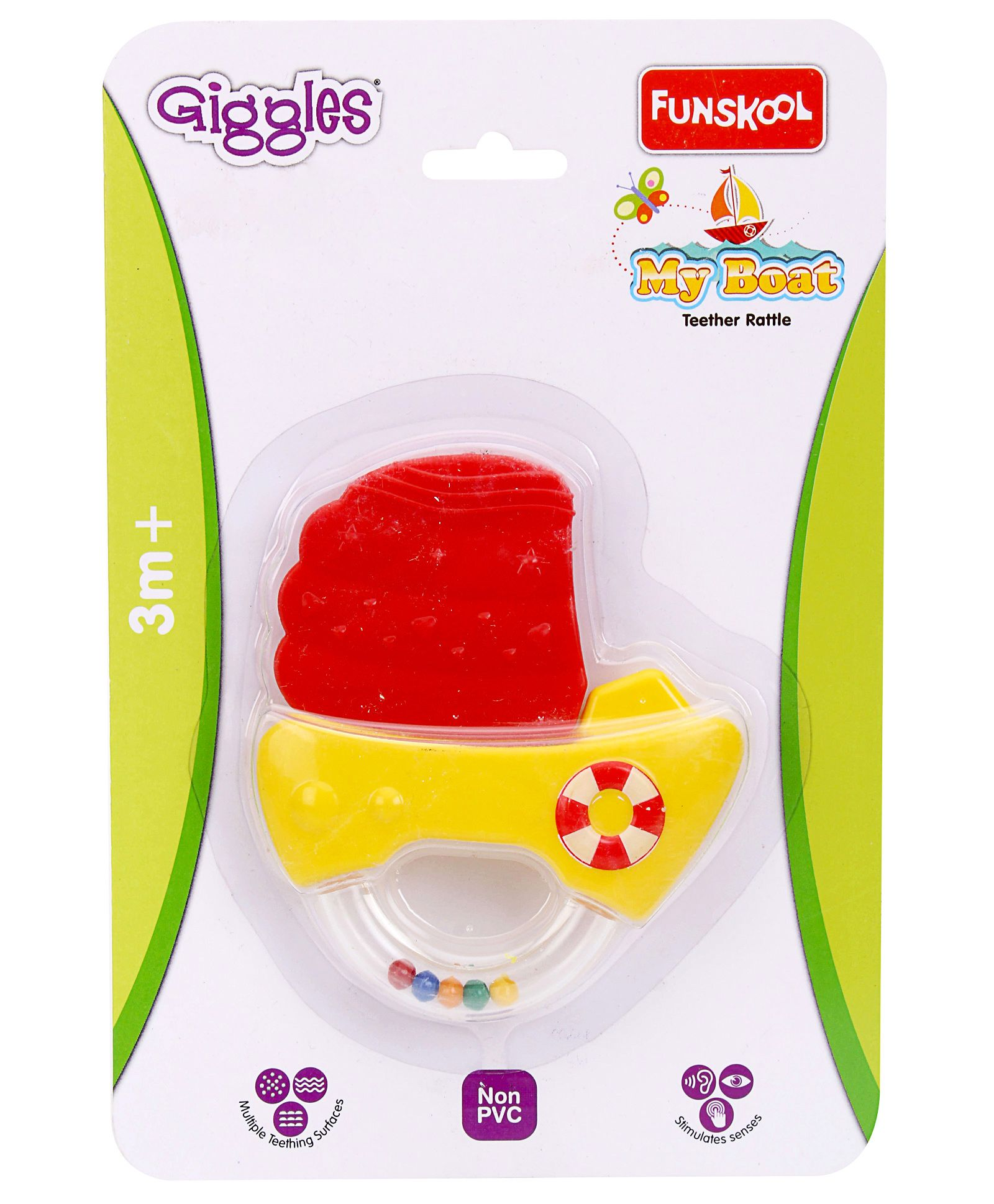 Giggles Teething Rattle My Boat Yellow Online India Buy Teethers Us Baby Teether 3m Small Pack Of 20924 Per Diaper