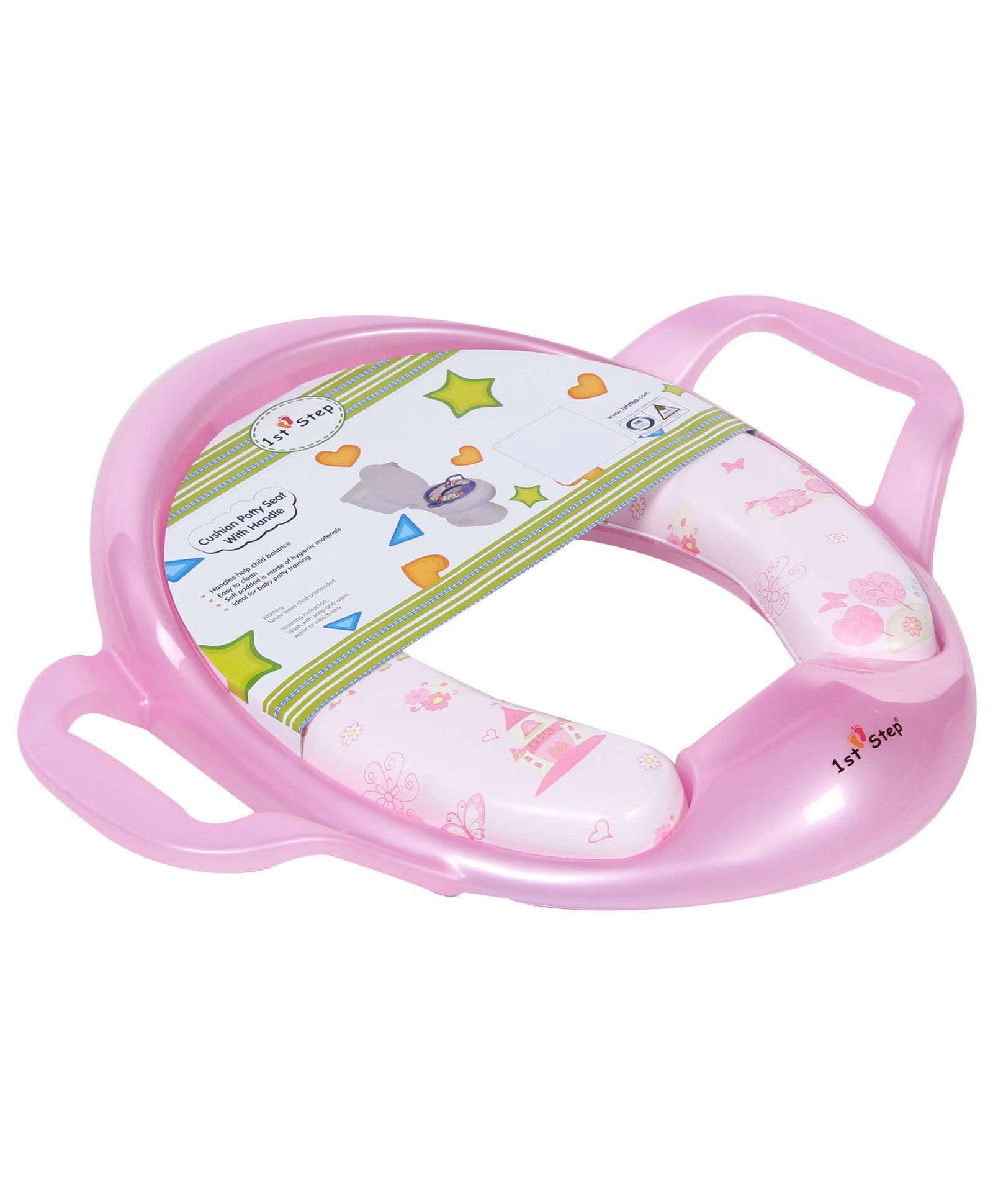 1st Step Cushion Potty Seat With Handle - Pink