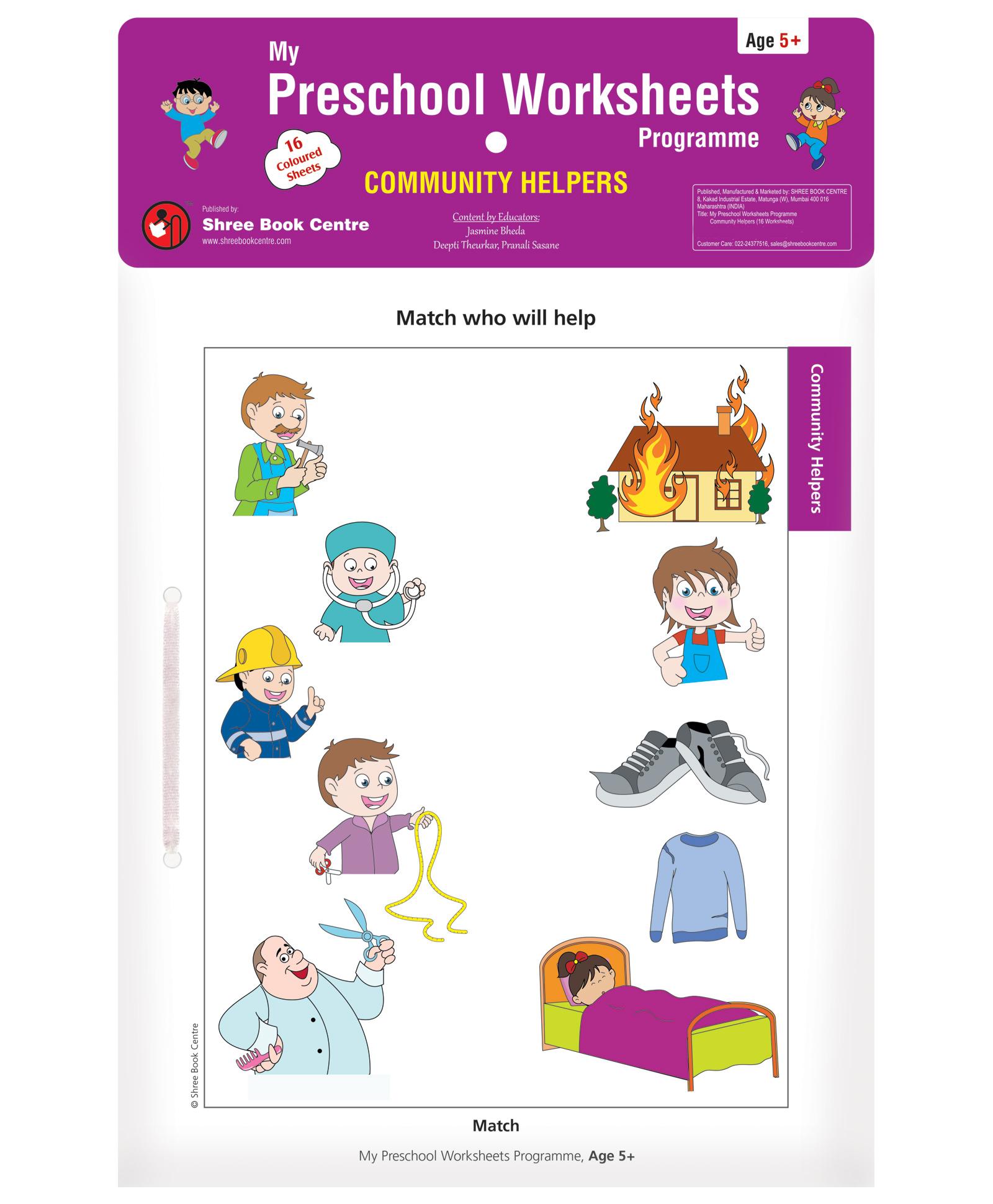 my preschool worksheets programme community helpers english online