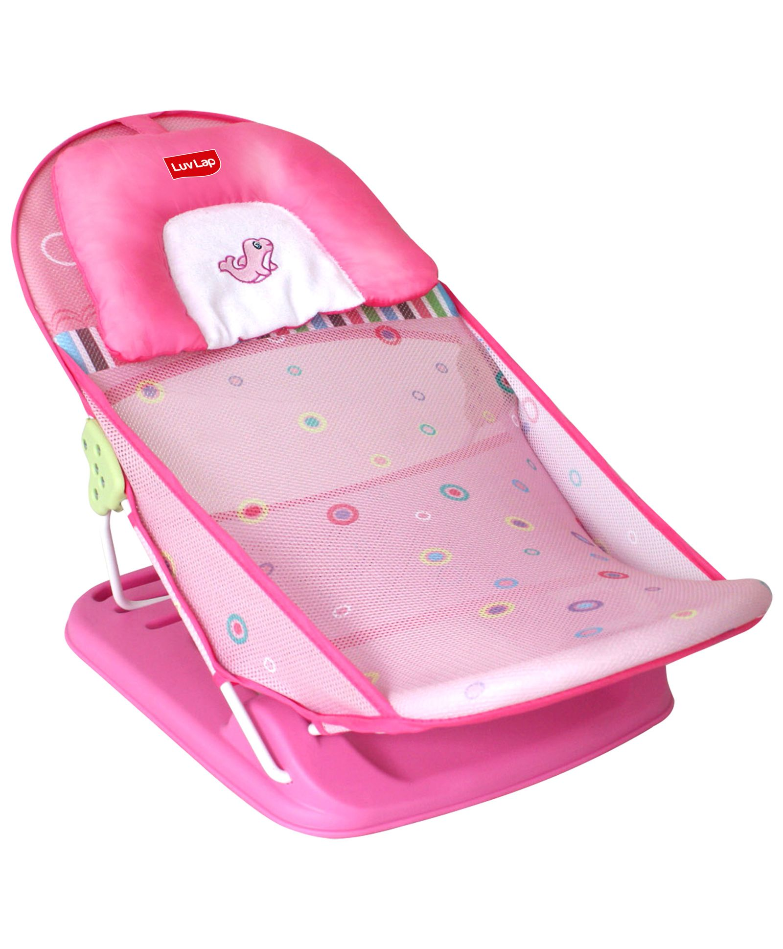 Luv Lap Baby Bather Fish Print Pink - 18171