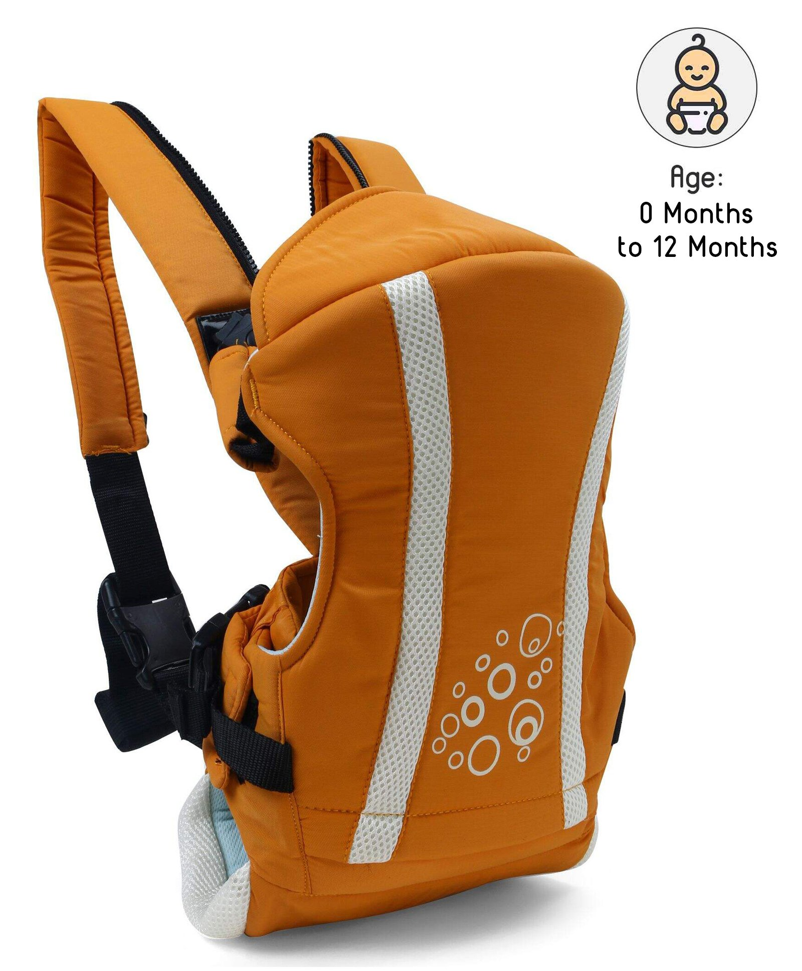 Kangaroo Style Baby Carrier - Orange