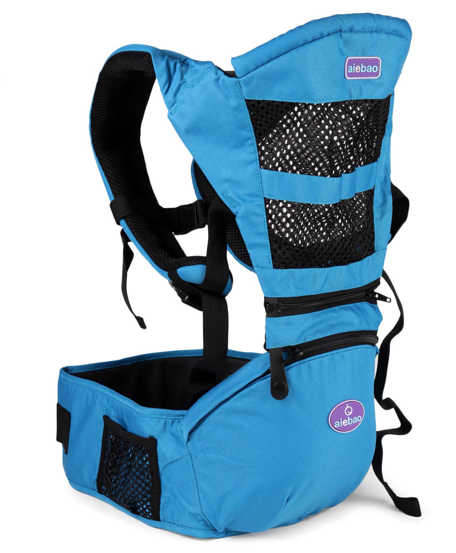 Aiebao Print Baby Carrier - Blue