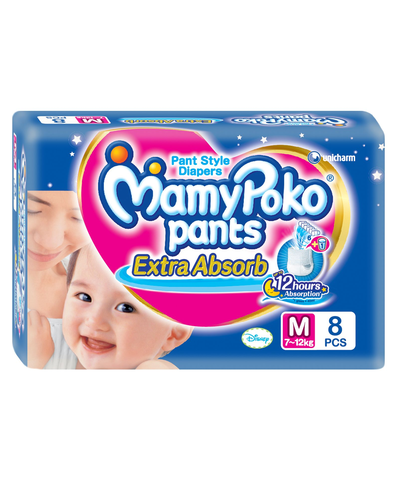 Mamypoko Extra Absorb Pant Style Diapers Medium 8 Pieces Online In Pants Soft Xl 30 Girls Select Size