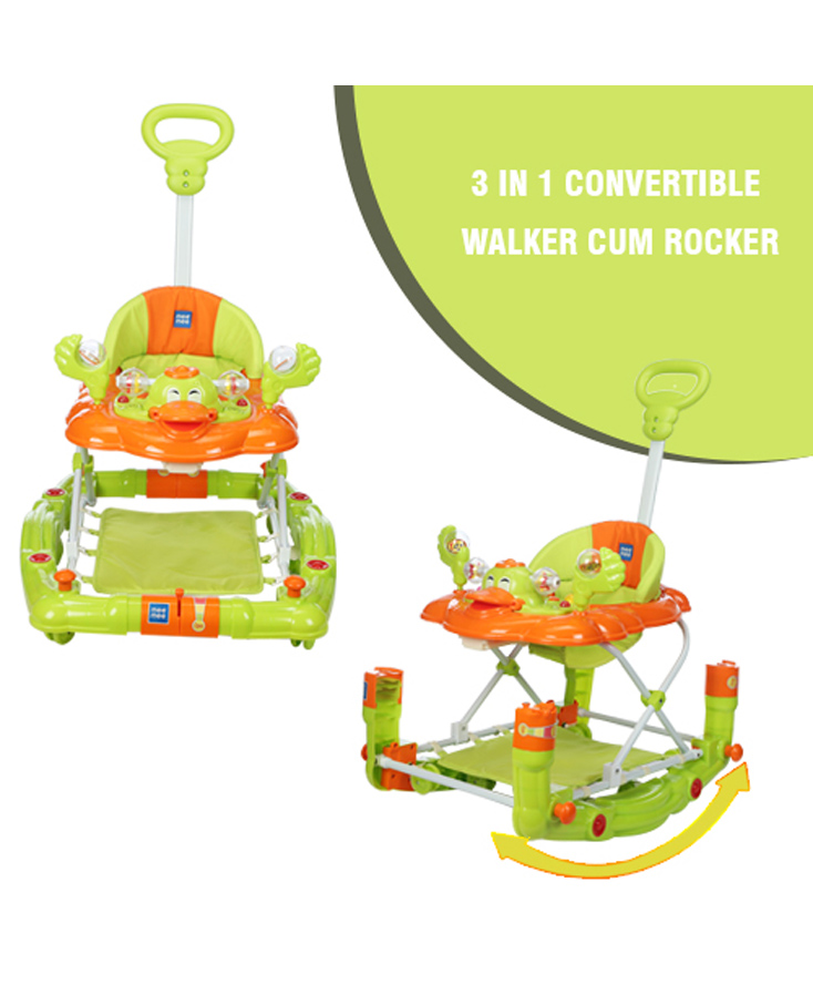 Mee Mee Walker Cum Rocker Monkey Face Design MM-W 913 - Green