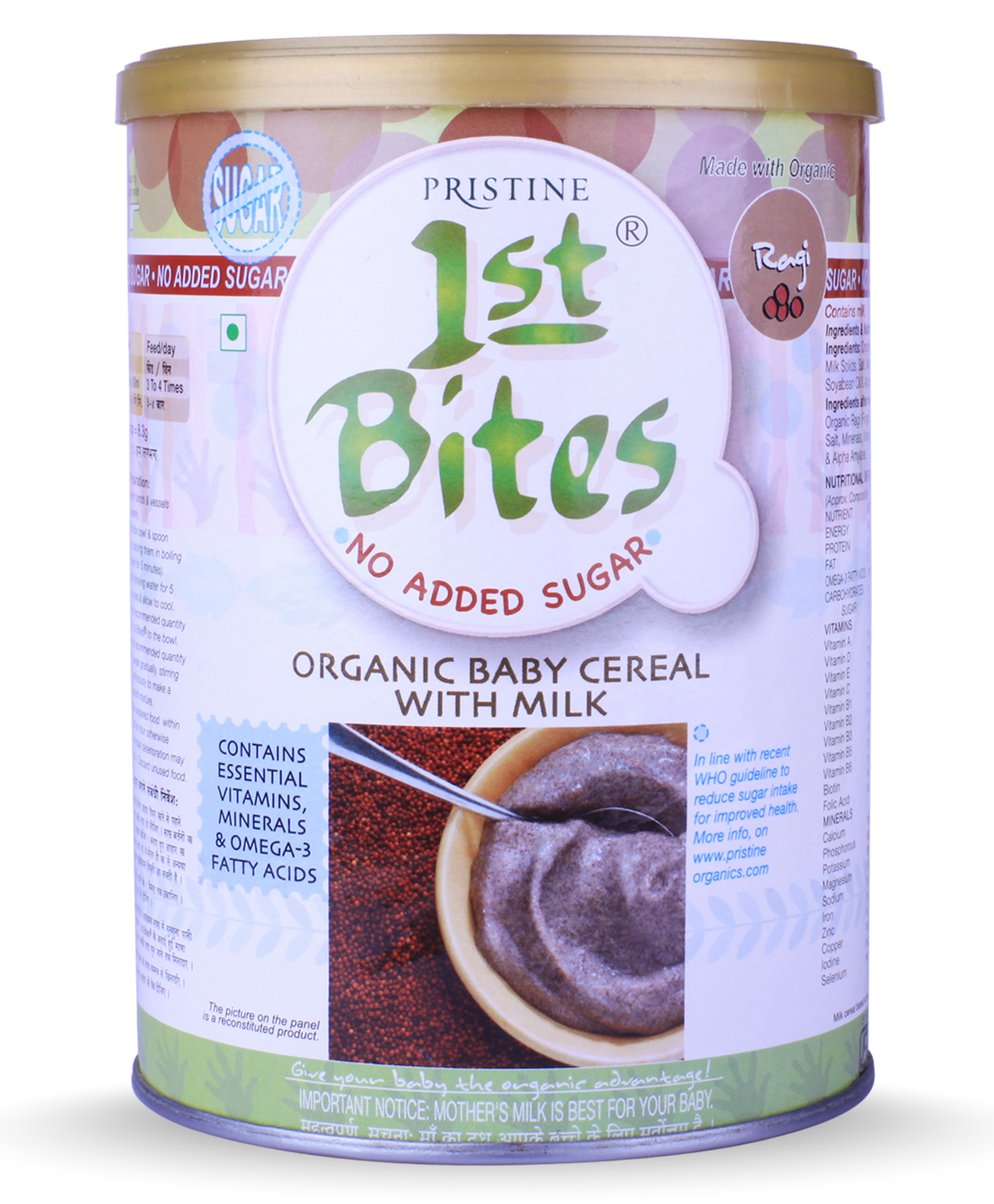 Cereals online buy baby food infant formula for babykids at pristine 1st bites ragi no added sugar 6 to 24 months 400 gm ccuart Images