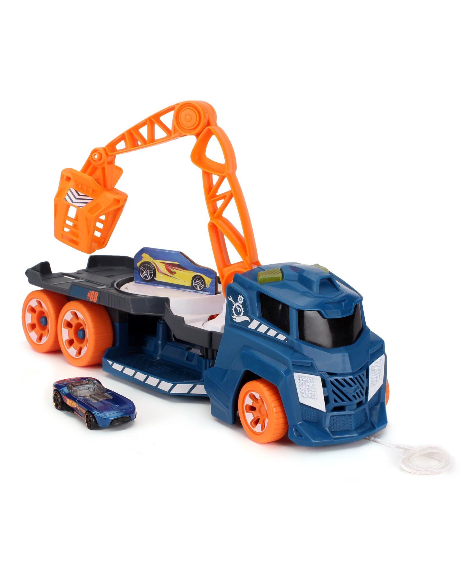 Hot Wheels Spinnin Sound Crane - Blue & Orange