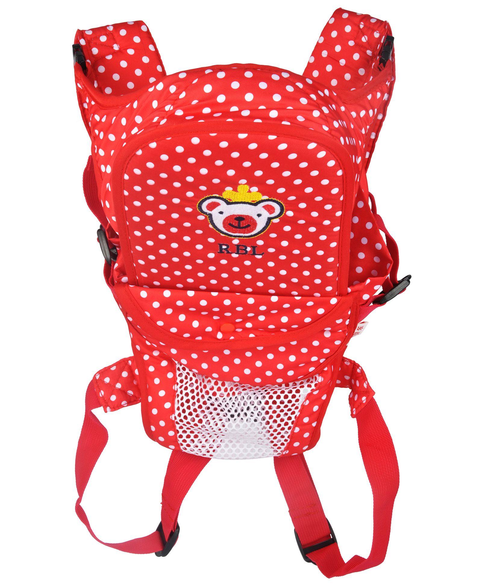 Kiwi 3 Way Baby Carrier Polka Dots - Red