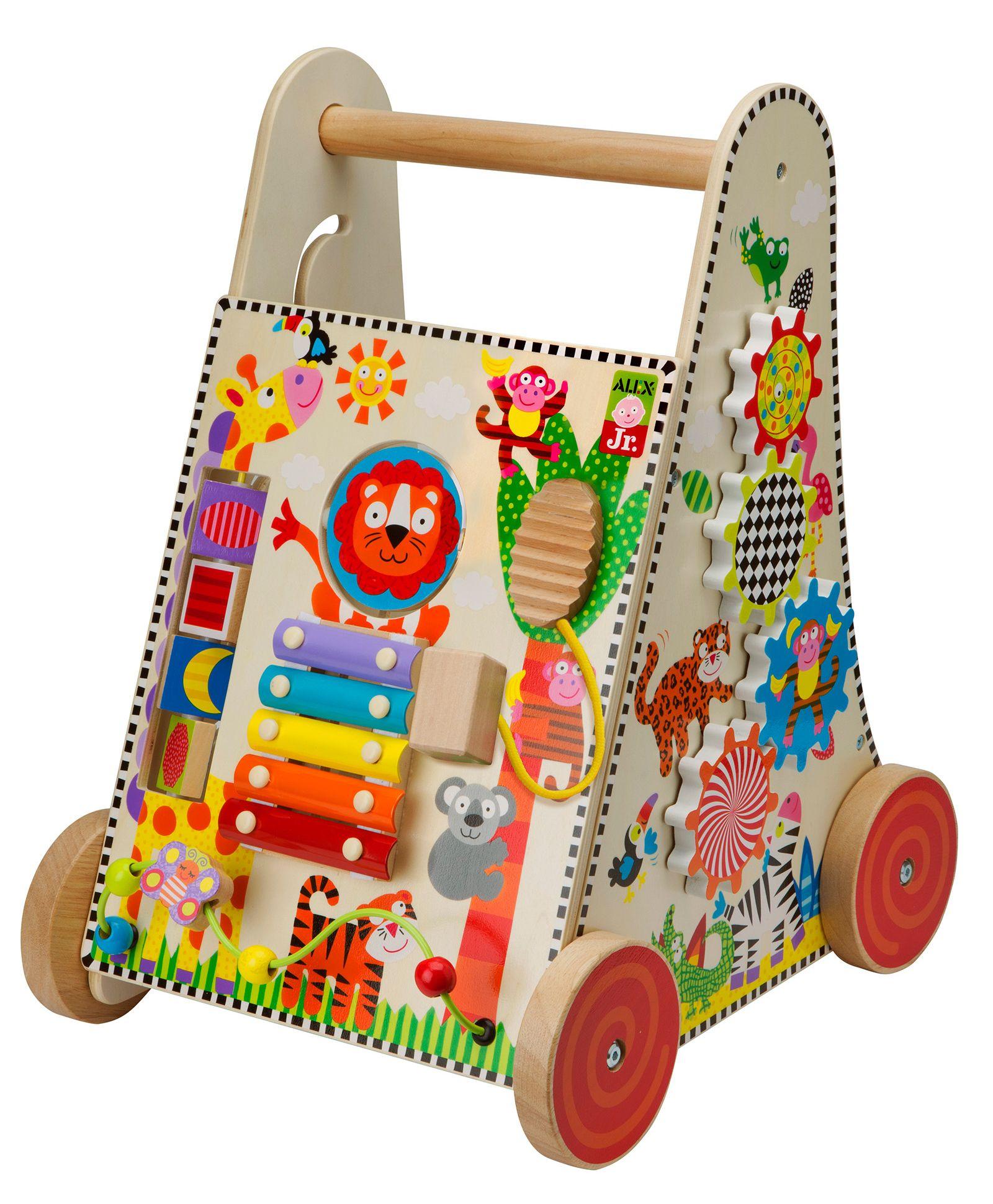 Alex Toys Wooden Push Cart - Multicolor