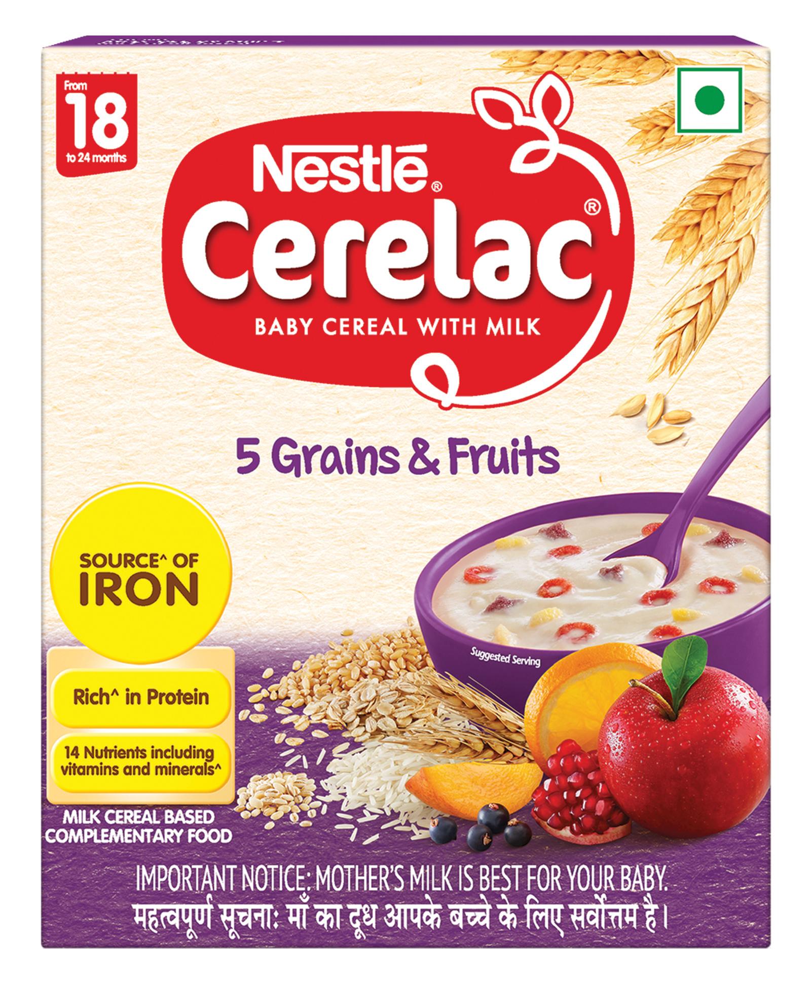 Nestle Cerelac Infant Cereal 5 Grains & Fruits Stage 5 - 300 gm