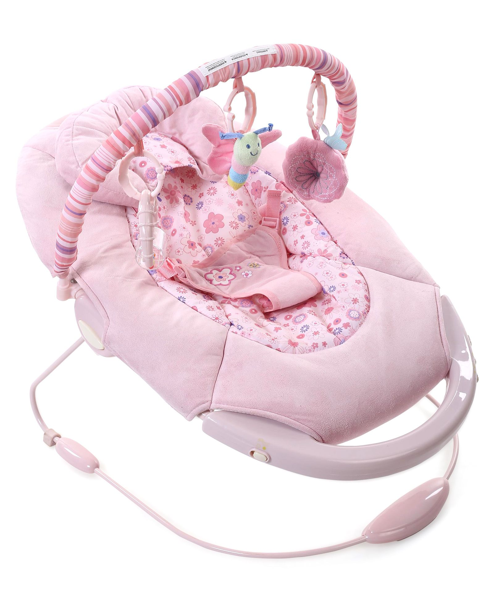 Baby Cradle And Soothing Vibrations Bouncer Floral Print - Pink