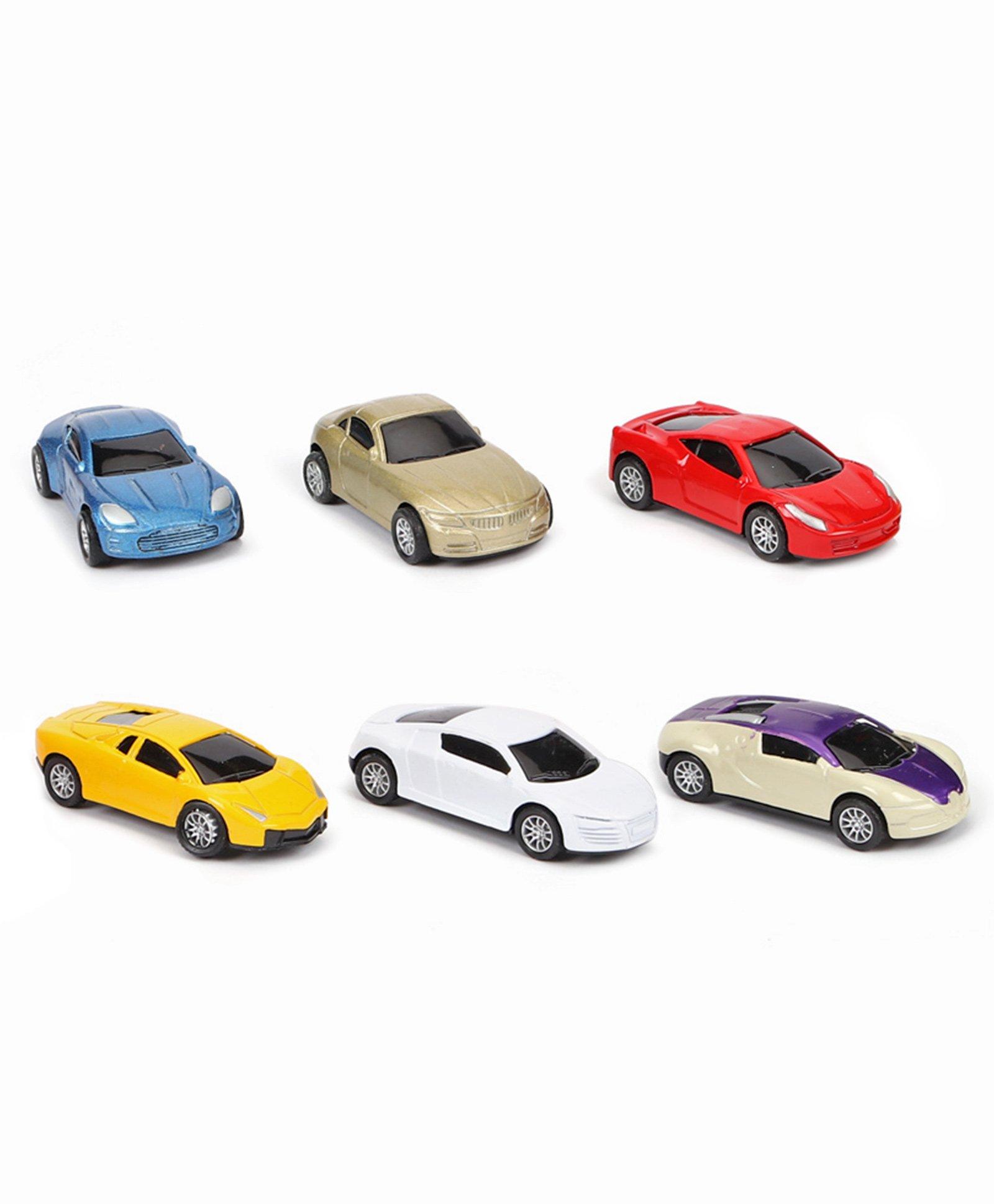 Mini Toy Cars Set Multicolor - 6 Pieces