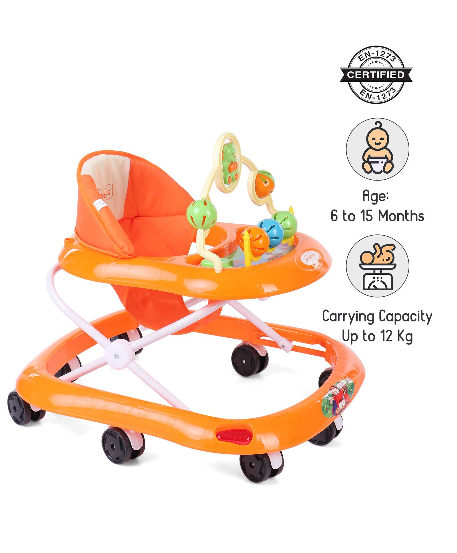 Babyhug Jolly Stroll Baby Walker - Orange