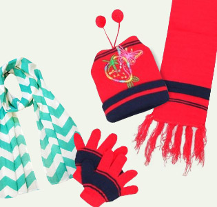 Winter Gloves, Caps & Mittens