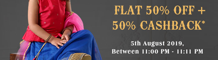 Flat 50% OFF + 50% Cashback*