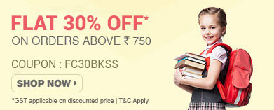 Flat 30% OFF* on Books,CDs & School Supplies on orders above Rs.750