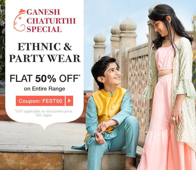 Fashion Festivity Flat 50% OFF* on Entire Range