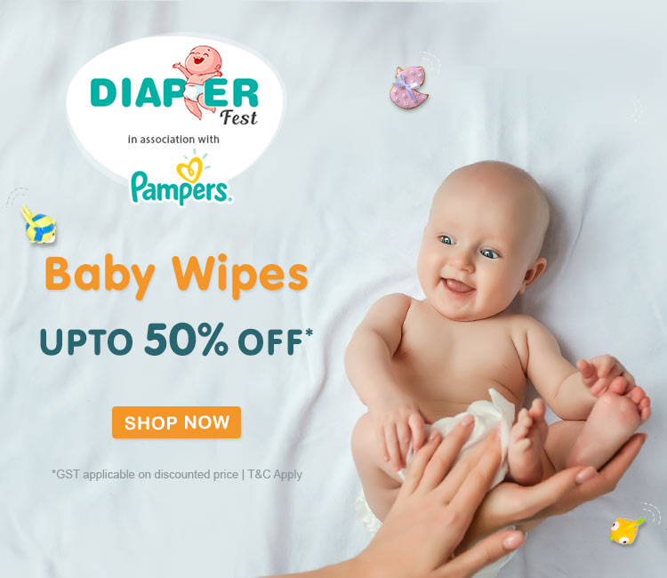 UPTO 50% OFF* on all Baby Wipes