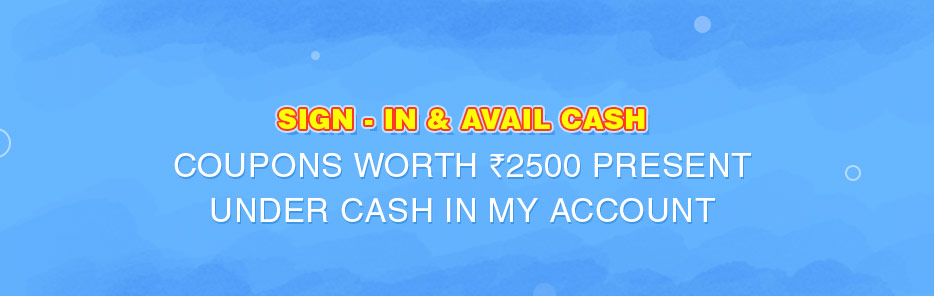 Sign in and avail cash