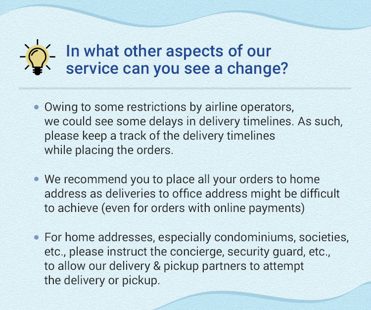 In What other aspects of our service can you see a change?
