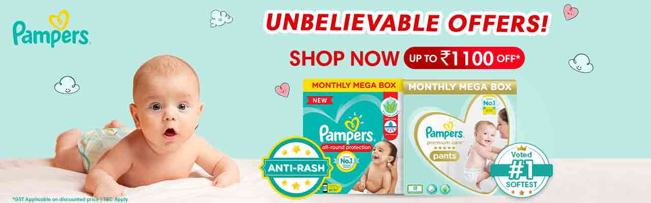 Pampers Upto Rs.1100 Off