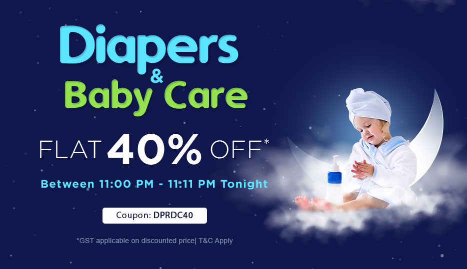 FLAT 40% OFF on ALL Diapers & Baby Care