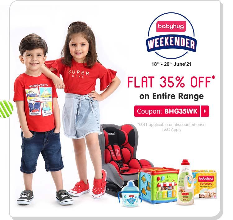 Babyhug Weekender - FLAT 35% OFF* on Entire Range