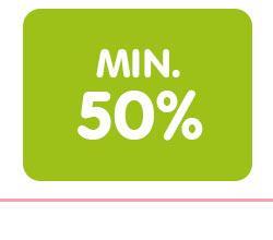 Min. 50%