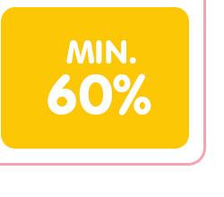 Min. 60%