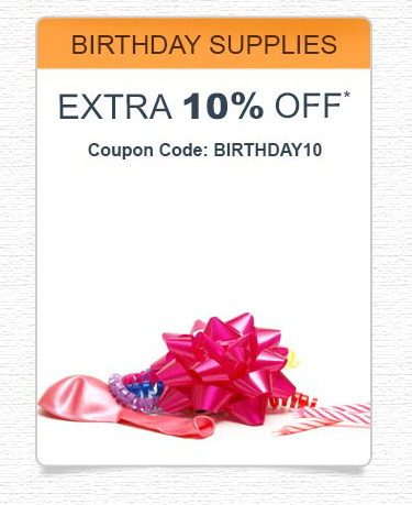 Birthday Supplies Coupons
