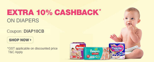 firstcry - Additional 10% cashback on All Diapers