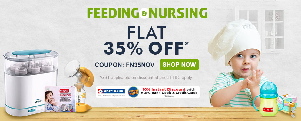 firstcry.com - Get Flat 35% discount on Feeding and Nursing Range