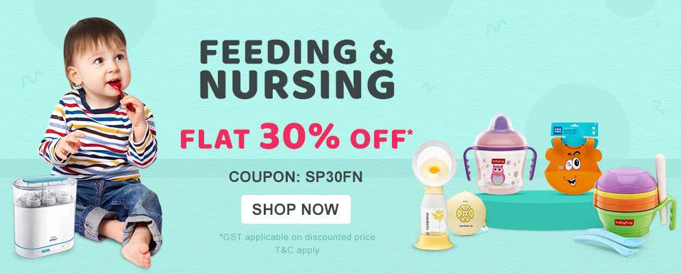 Coupons and Offers for FirstCry - 30% off on Feeding & Nursing Range