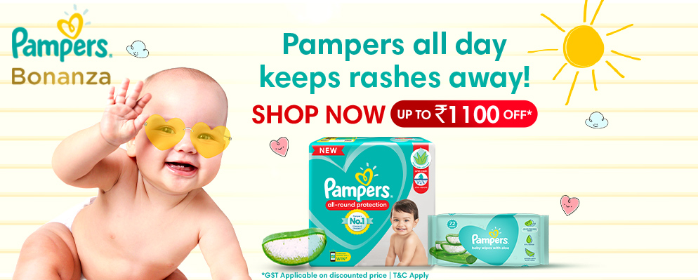Coupons and Offers for FirstCry - Up to ₹1100 Off on Pampers New Born Range