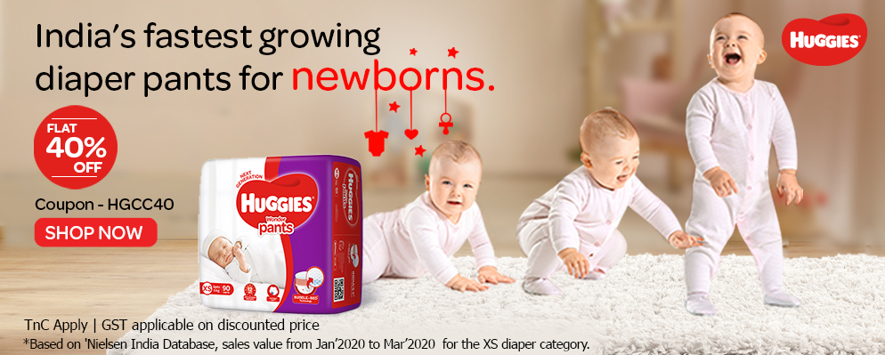 firstcry.com - 40% off on Huggies Diapers