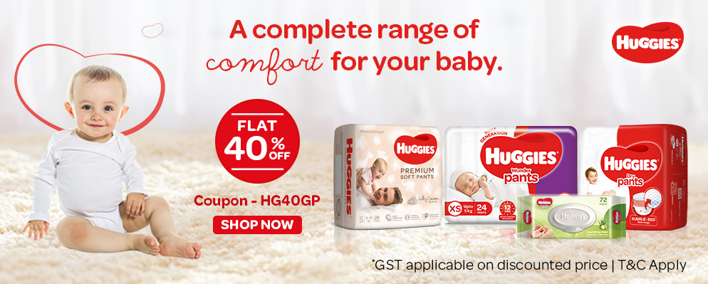 firstcry.com - Flat 40% discount on Huggies Diapers