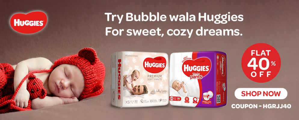 firstcry.com - Get Flat 40% OFF on Huggies Diapers