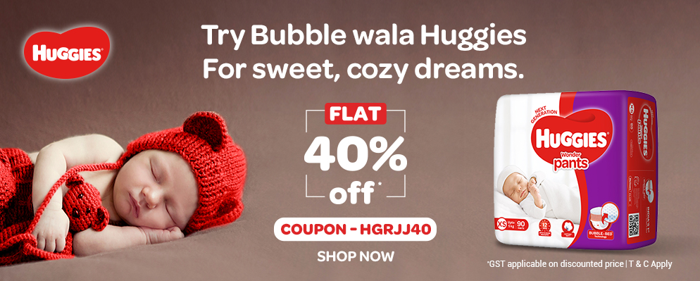 firstcry.com - Get Flat 40% Discount on Huggies
