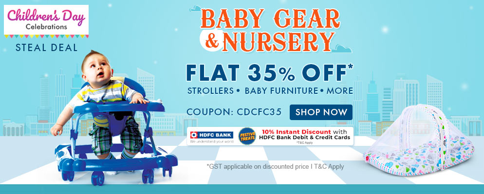 firstcry.com - 35% off on Baby Gear and Nursing