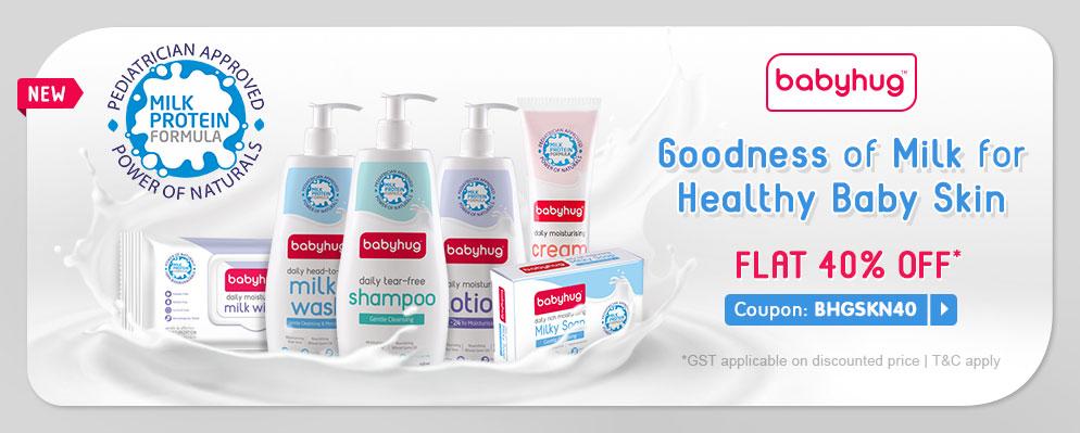 firstcry.com - Get Flat 40% OFF on Babyhug Skin Care Range
