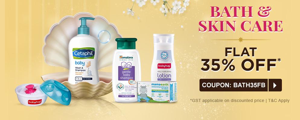 firstcry.com - Avail 35% discount on Entire Bath & Skin Care