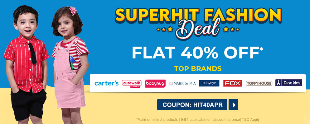 firstcry.com - 40% Off on Selected Top Fashion Brands
