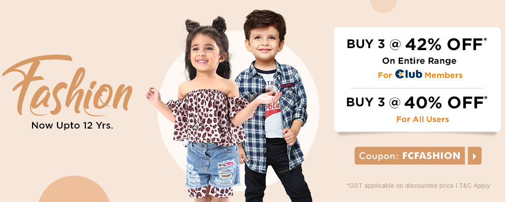 firstcry.com - Avail Buy 3 Get 40% Off on all products