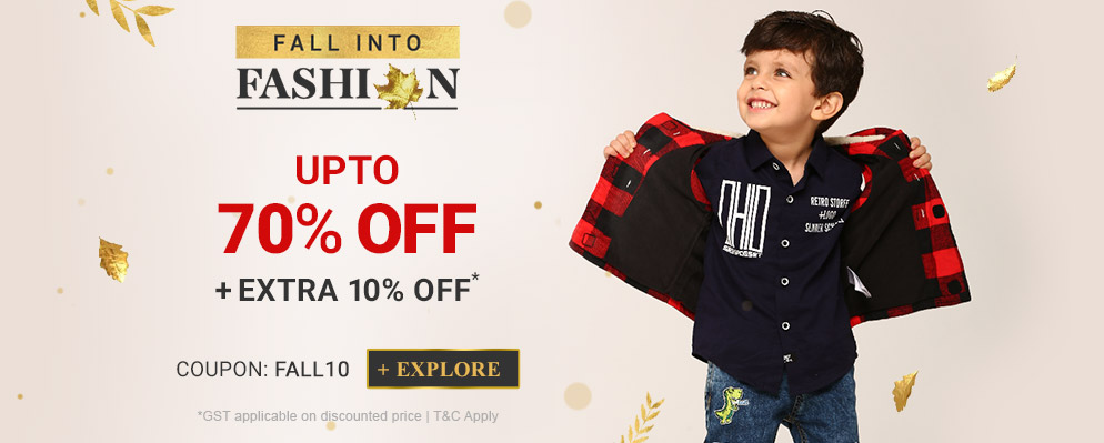 firstcry.com - Avail Up To 70% off + Extra 10% off on Fashion Range